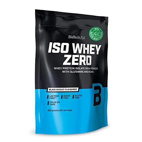 BioTechUSA Iso Whey ZERO, Lactose, Gluten, Sugar FREE, Premium Whey Protein Isolate, 500 g, Black...