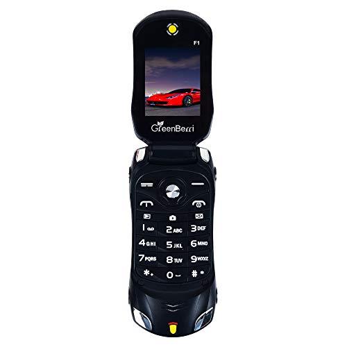 GreenBerri F1 Car Design Keypad Flip Phone (Dual SIM, Black)