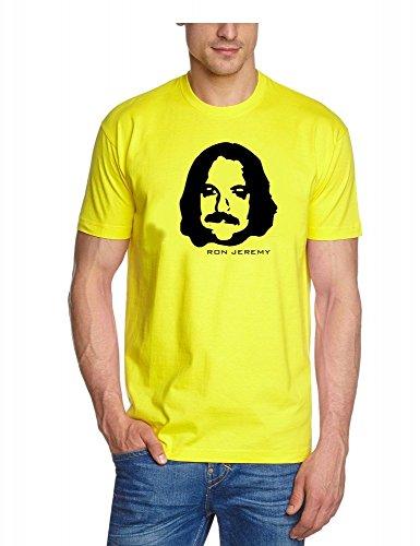 Coole Fun T-Shirts Ron Jeremy Porno Memorial t-Shirt Hardcore Star, gelb, Grösse: XL