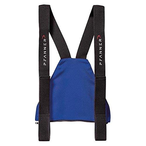 Pfanner Zip-Latz für Schnittschutzhosen mit Nierenschutz, Farbe:blau, Größe:2