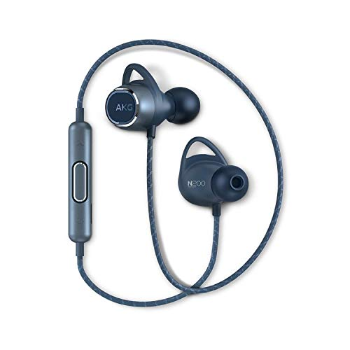 AKG ワイヤレスイヤホン N200 Bluetooth 4.1 AAC SBC aptx 対応 AKGN200BT (ブルー)