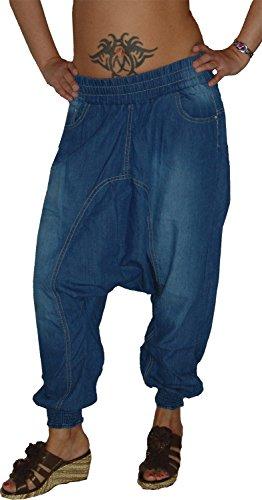 m.g.fashion Damen Harems Sarouel Aladin Jeans Hose M-243, Gr.36 S