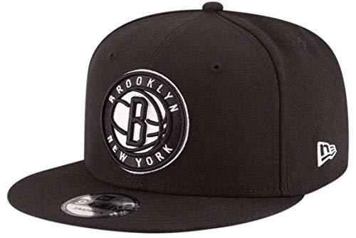New Era Brooklyn Nets 2020 Official Team Color 9FIFTY Adjustable El Snapback Sombrero Negro Gorra
