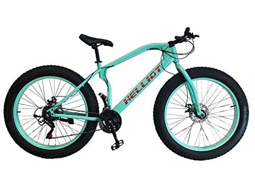 Helliot Bikes Bull Blue Bicicleta de montaña Fatbike, Adultos Unisex, Azul, Mediano