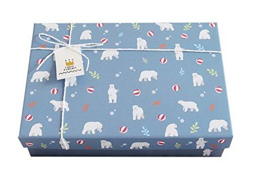 Koala Superstore Netter weißer Eisbär-Geschenkbox-Rechteck-große Geburtstags-Valentinstag-Geschenkbox