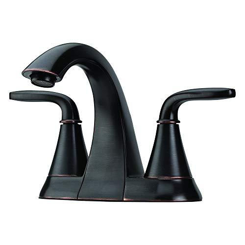 Pfister LF048PDYY Pasadena 2 Handle 4 Inch Centerset Bathroom Faucet in Tuscan Bronze