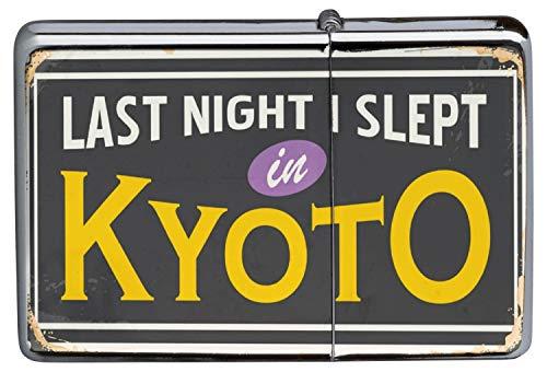 LEotiE SINCE 2004 Chrom Sturm Feuerzeug Benzinfeuerzeug aus Metall Aufladbar Winddicht für Küche Grill Zigaretten Kerzen Bedruckt Reisen Küche Kyoto Japan