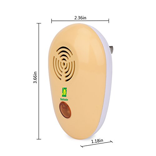 Neatmaster Ultrasonic Pest Repeller - Electronic Bug Repellent Plug in Mosquito Repellent - Pest Control for Mice, Roach, Spider, Ants and More