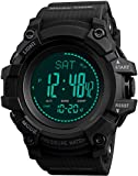 Reloj digital para hombre, brújula, contador de calorías, altímetro, barómetro, temperatura, cronómetro, militar, deportes, actividad física, para correr, tacto
