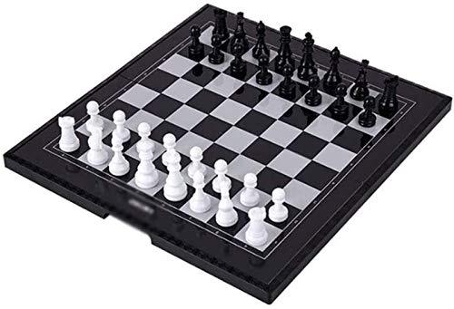 Juego de Ajedrez Tablero de Ajedrez Conjunto de ajedrez de viaje magnético de la placa de ajedrez Conjunto de juguetes educativos de placa de ajedrez plegable para niños y adultos, tablero de juego de