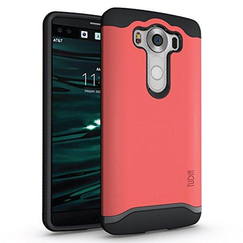 LG V10 Hülle, TUDIA Slim-Fit Merge Dual Layer Schutzhülle für LG V10 (Rose)