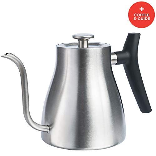 Uno Casa Tetera hervidor de Cuello de Cisne - Hervidores de Agua para los Fuegos de la Cocina - Teteras para té y café con termómetro