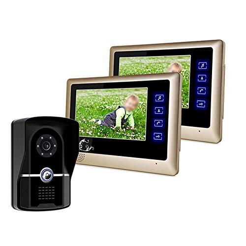 Libila 7-inch mode nieuwe touch-toets video deurbel een paar twee