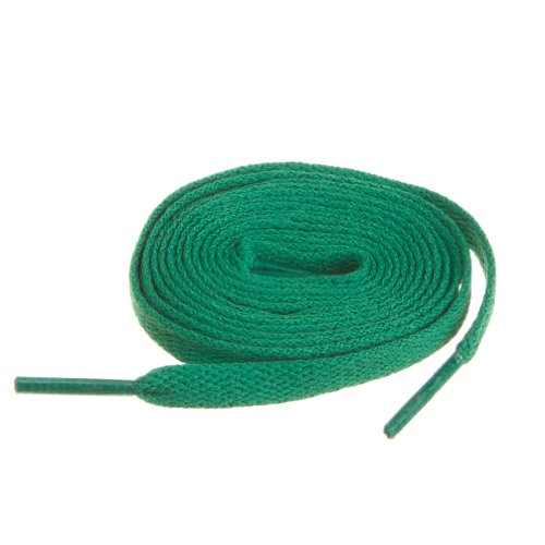 """BIRCH's Shoelaces in 27 Colors Flat 5/16"""" Shoe Laces in 4 Different Lengths (45.5""""(115cm) L, Green)"""