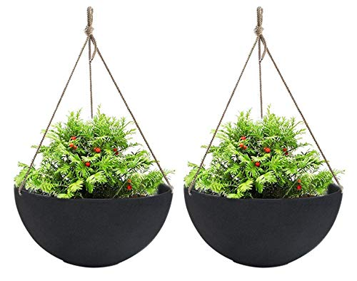 Best Pick: LA JOLIE Large MUSE Black outdoor Hanging Planters