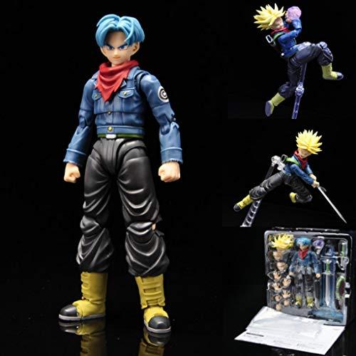 PY Dragon Ball Z: Trunks Collection (movible) La Figura de acción de Juguete Modelo de Regalo Decoración Dragon Ball Super muñeca