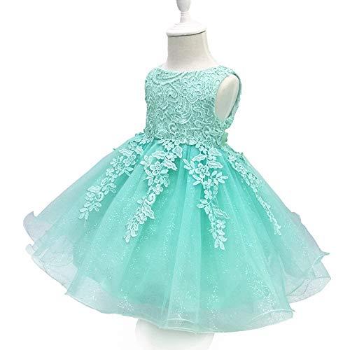 Children's wear Robe d'anniversaire de bébé, Jupe Duveteuse ornée de Perles à la Main en Dentelle de Princesse, Convient au Mariage fête de Noël Robe de Carnaval ZDDAB