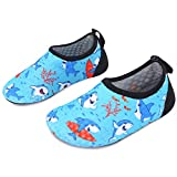 L-RUN Kids Water Shoes Quick-Dry Boys Girls Aqua Beach Shoes Blue 5-5.5=EU20-21