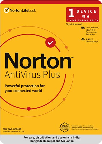 Norton Antivirus Plus   1 User 3 Years  Includes Smart Firewall & Password Manager   PC or Mac   Code emailed in 2 hrs.