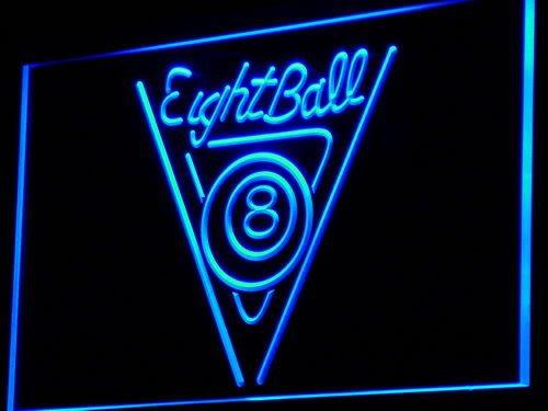 ADVPRO i773-b Eight Ball Billiards Pool Room Neon Light Sign Barlicht Neonlicht Lichtwerbung