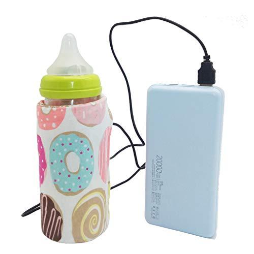 Lunji Baby Flaschenwärmer Tasche Tragbare USB Heizung Brustmilchbeutel Isolierte Babyflaschentasche für Unterwegs (A)
