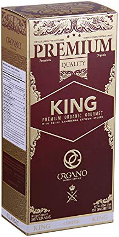 Organo Gold King Of Coffee Organic Premium Ganoderma Lucidum U S A Packaging 1 Box