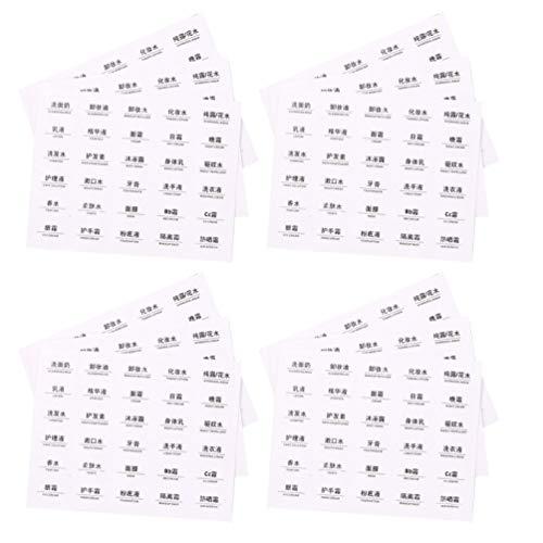 Hemoton 30St Cosmetische Fles Label Make-Up Fles Sticker Etherische Olie Fles Labels Tag Plakken Voor Diy Identificatie