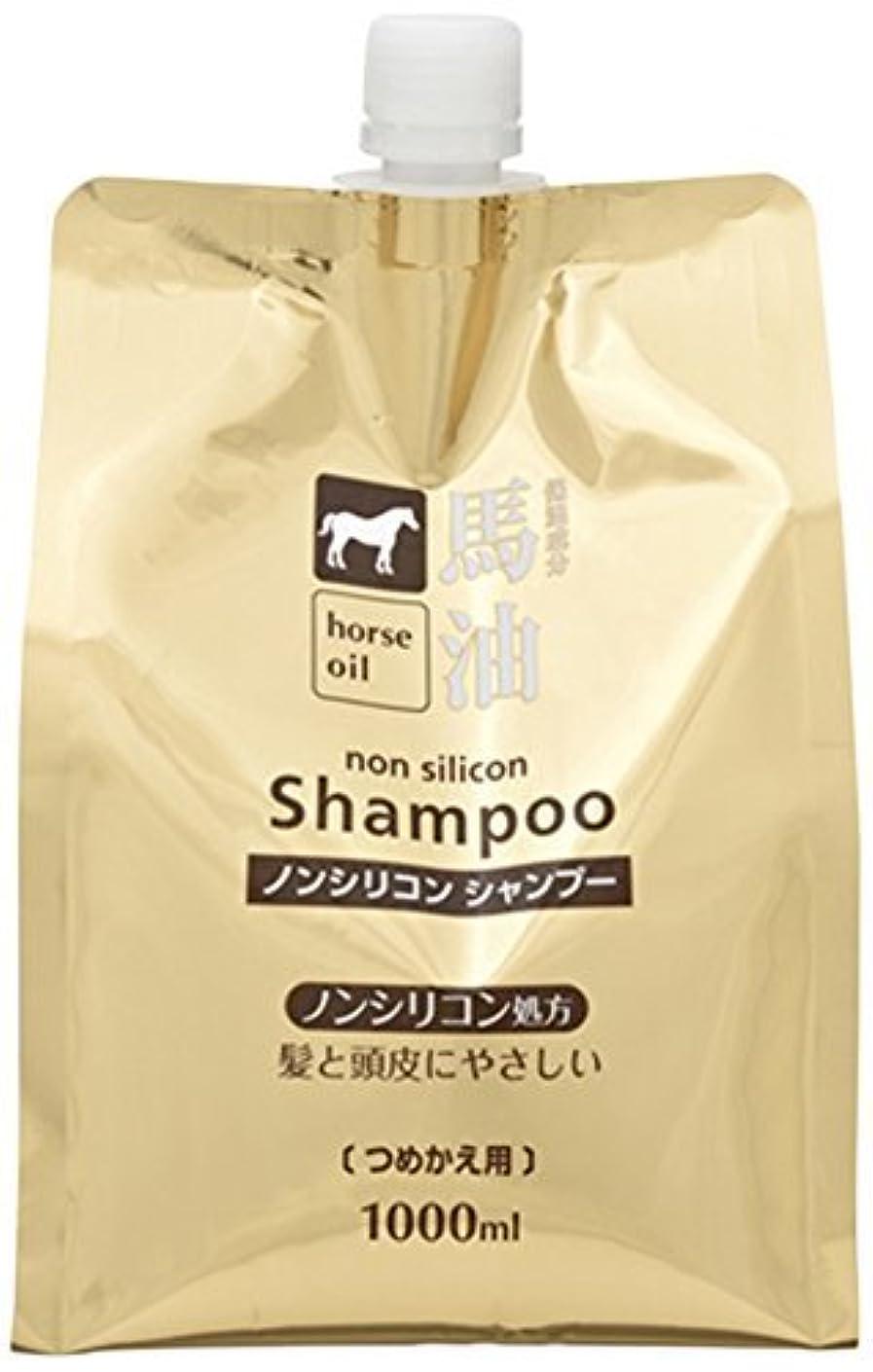 感じ褐色花弁熊野油脂 馬油シャンプー 詰め替え用 1000ml