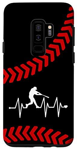 Galaxy S9+ Baseball Heartbeat Pulse Case