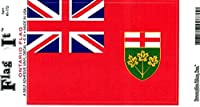 """Ontario Flag Decal For Auto, Truck Or Boat - 3 ス"""" x 5"""" - High Gloss UV Coated Laminate Water Proof Sticker DECAL"""