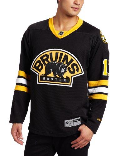 Reebok NHL Herren Boston Bruins #17 Milan Lucic Edge Premier Player Trikot (schwarz, groß)