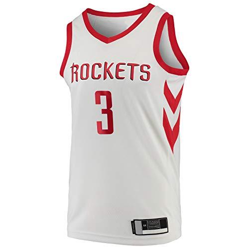 DENGPAO Paul al aire libre Chris Top sin mangas Houston camiseta Rockets Baloncesto Jersey Blanco -#3 Réplica Swingman Jersey Association Edition-XXL