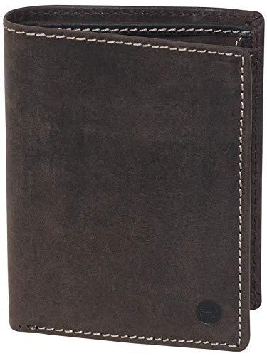 HC Herren hochwertige Geldbörse Hochformat Antikes Leder RFID Schutz, Farben:Dunkelbraun