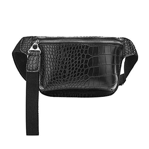 BJHSYNDR Bolsa de cintura para mujer Bolsa de pecho Pu Fanny Pack Bolsa de teléfono Paquetes de pecho de las señoras de correa ancha bolsa de cinturón de mujer