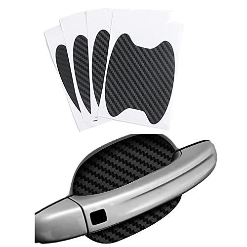 4Pcs/Set Car Door Sticker Carbon Fiber Scratches Resistant Cover Auto Handle Protection Film Exterior Styling Accessories Black
