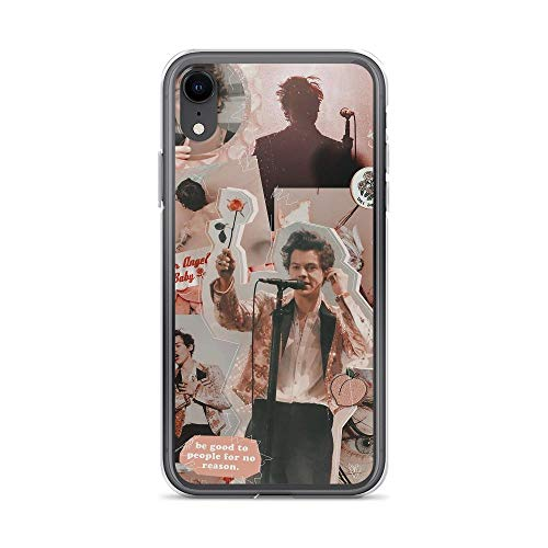 Beamm-Frost Compatible with iPhone XR Case Harry Gives Roses Collage Pink Peach Theme Pop Music Young Styles Pure Clear Phone Cases Cover