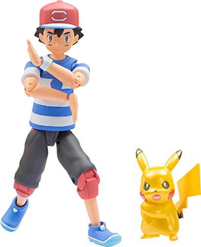 Pokemon Monster Collection EX Ash Ketchum Pikachu (Metallic Ver.) Z-Moves Posing