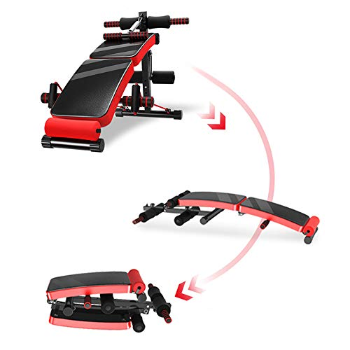 YX-ZD Home Gym Übung, Crosstrainer Folding Bauchmuskeln Stuhl, Bauch Funktion Multifunktions-Supine Platte, Greifer, Handschuh, Übungsbänder