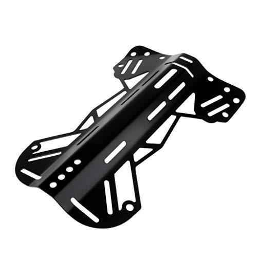 JLZK Seguridad Aluminio bucear Placa Técnica de Buceo Placa Trasera del arnés de Hardware for Sacar la Bolsa Precisión (Color : Black)