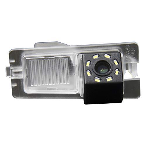 HD 720p Nachtsicht Rueckfahrkamera Wasserdicht Farbkamera 170° Rückfahrkamera Kennzeichenleuchte Einparkhilfe Kamera für SsangYong Ssang Yong Rexton Kyron Korando Actyon Rodius (A=76x36 mm)