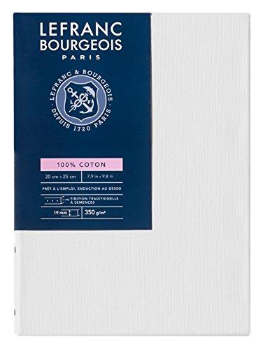 Lefranc Bourgeois - Marco de tela 100% algodón, 20 x 25 cm, grosor 1,9 cm