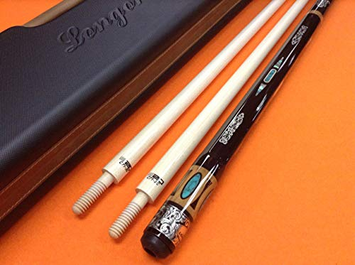 Best Review Of LONGONI Carom CUE LUX Octagonal S20 SHAFTS & Patented CASE.