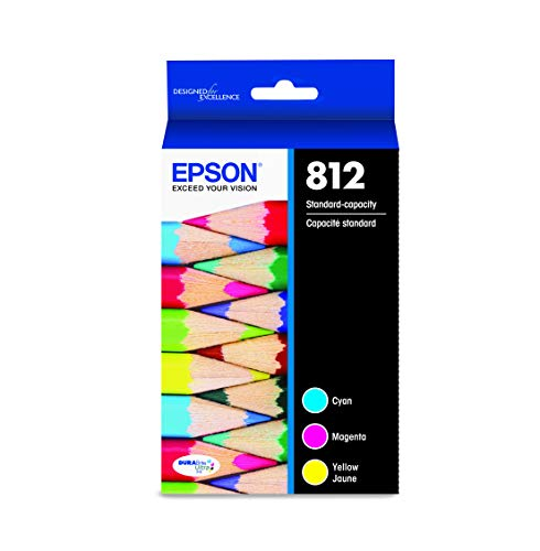 EPSON T812 DURABrite Ultra Ink Standard Capacity Color Combo Pack (T812520-S) for Select Epson Workforce Pro Printers