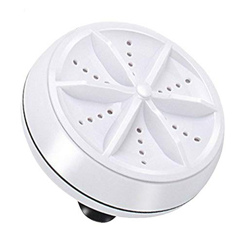 Ultraschall-Turbo-Waschmaschine Tragbare Reisewaschanlage Luftblase und rotierende Mini-Waschmaschine-Weiß