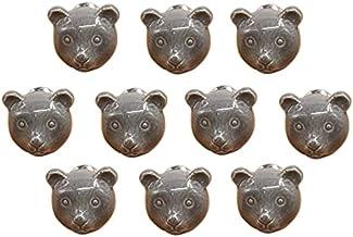 Cartoon dierlijke vorm keramische deur handvat AOOF dressoir keuken kast lade handvat 10 stuks, grijs (grijs)