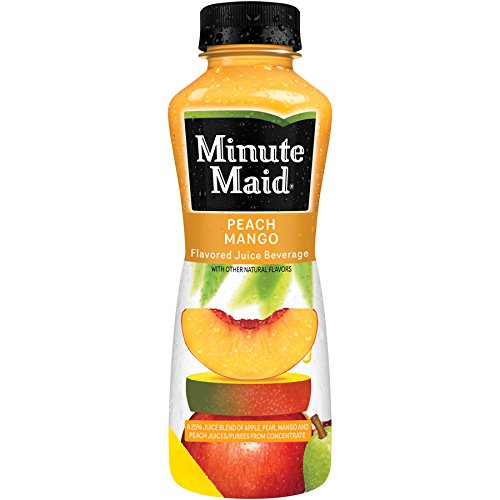 Minute Maid Juice 12 oz Plastic Bottles - Pack of 24 (Peach Mango)