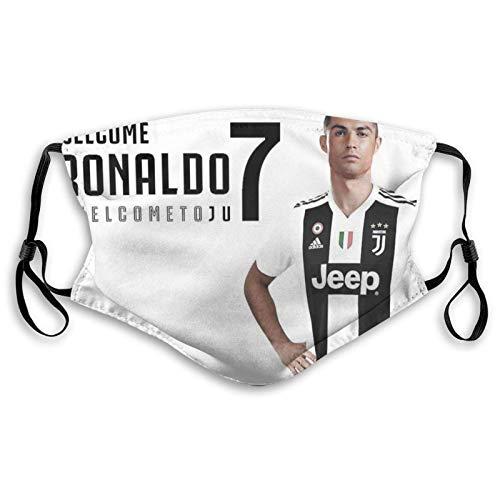 fivekim Cristiano Ronaldo Pañuelos bucales transpirables para adultos con filtro de carbón activado, lavables y reutilizables y ajustables