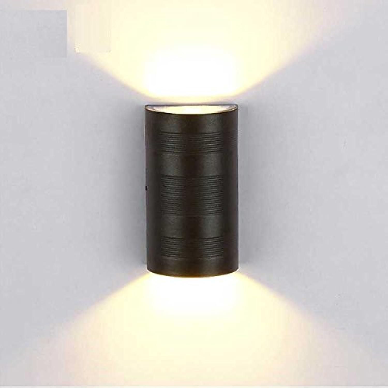 StiefelU LED Wandleuchte nach oben und unten Wandleuchten Led outdoor Lampen outdoor Dual head Wandleuchten LED wasserdicht Terrasse Balkon Flur Gang Auenbeleuchtung, halbrund 9  16  5,5 cm
