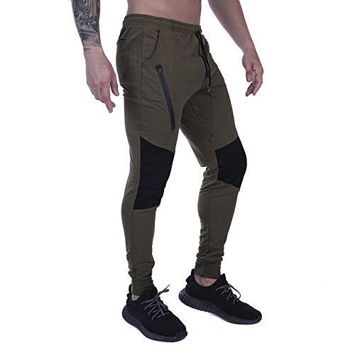 Pantalones de Hombre Trend Color Matching Streetwear Workout Running Fashion All-Match Costura Pantalones Deportivos con cordón S
