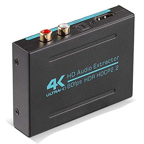 Dcolor Extractor de Audio HD Compatible con una Divisor óPtico SPDIF Adaptador Convertidor de Audio Admite 4K 120Hz